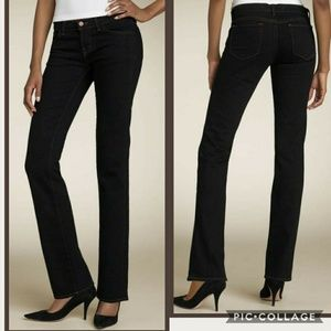 J Brand Cigarette Leg black straight jeans, short